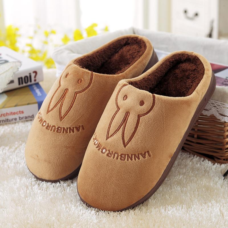 Women Men Lovers Winter Warm Home Slippers Female Warm Anti-Slip Cotton-Padded Shoe Woman Man Autumn Indoor Slipper Shoes(China (Mainland))