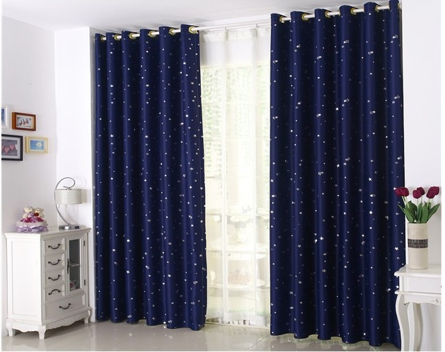 Curtain for 100% Blackout Cortinas Para Sala For Living Room Flat ...