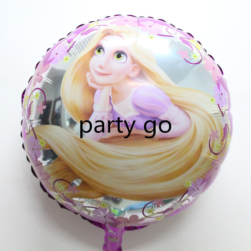 New 18 50pcs/lot Cartoon Metallic Happy Birthday Decoration Princess foil Balloon for Kids Party Supplies mylar Ballon globos<br><br>Aliexpress