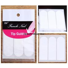 DIY French Manicure Nail Art Decorations Round Form Fringe Guides Sticker Stencil(China (Mainland))