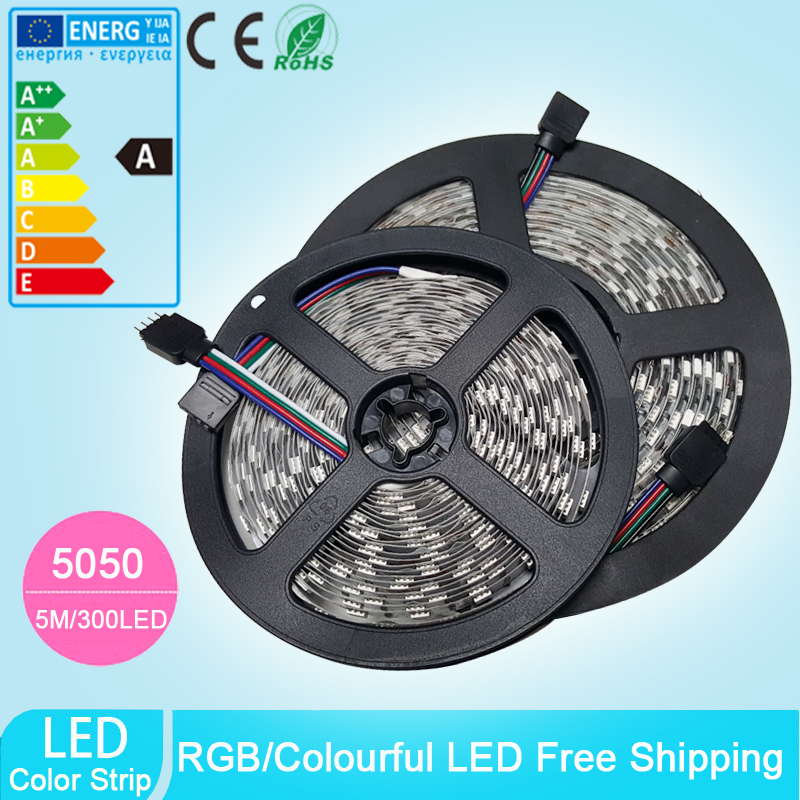 12V 5M/lot 300LEDs 5050 SMD LED Strip Flexible Light Home Decoration Light RGB White Warm White Red Green Blue(China (Mainland))