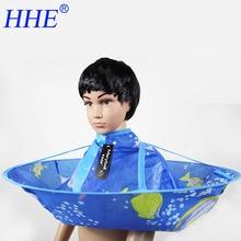 Kids Hair Cutting Cape Haircut Gown Hairdresser Apron Blue Cloak Clothes For Haircut(China (Mainland))
