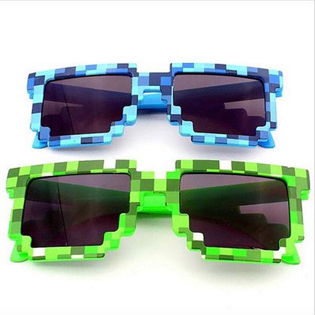 Мозаика сделки с ней очки Minecraft женщины мужчины солнцезащитные очки пикселей ...