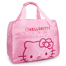 HOT 2015 New Arrived Women Fashion Travel Bags Cartoon Travel Bag Outdoor School Duffle Bags Hello Kitty Cute Travelling Bag(China (Mainland))