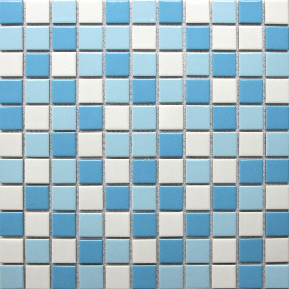 White ceramic mosaic tile