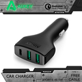 AUKEY Quick Charger 3 0 3 Ports USB Car Charger QC3 0 For iPhone 7 Plus