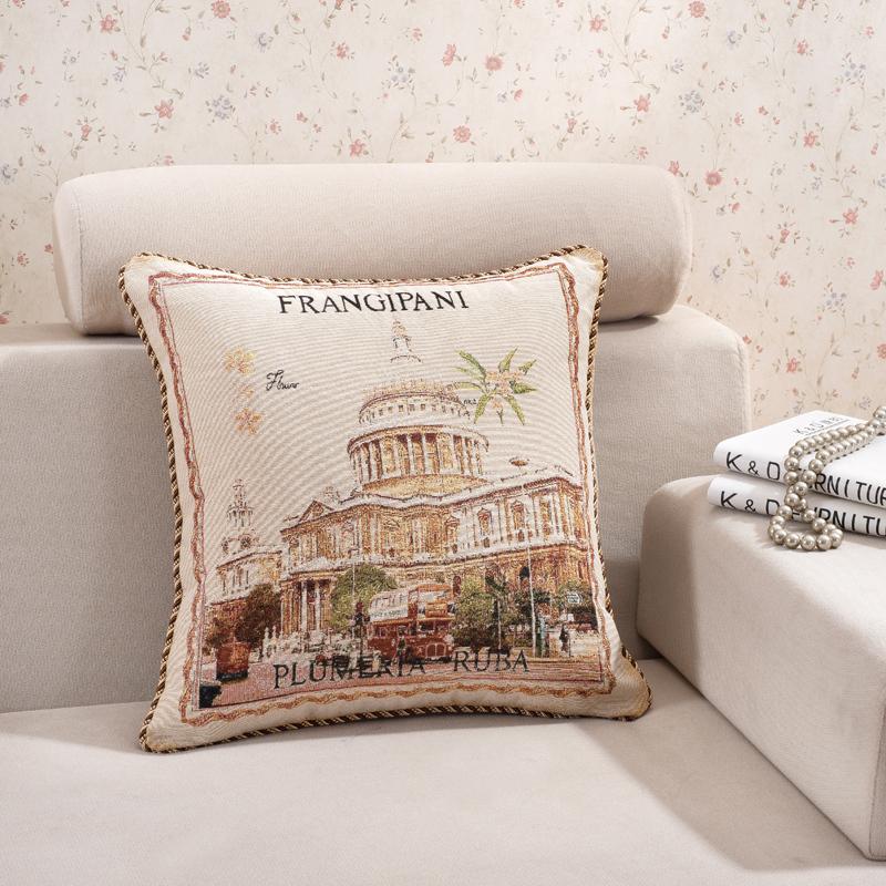 100% cotton sofa pillow,size 50 x 50 cm art pillow,european design decorative art pillow,Palace design body pillow(China (Mainland))