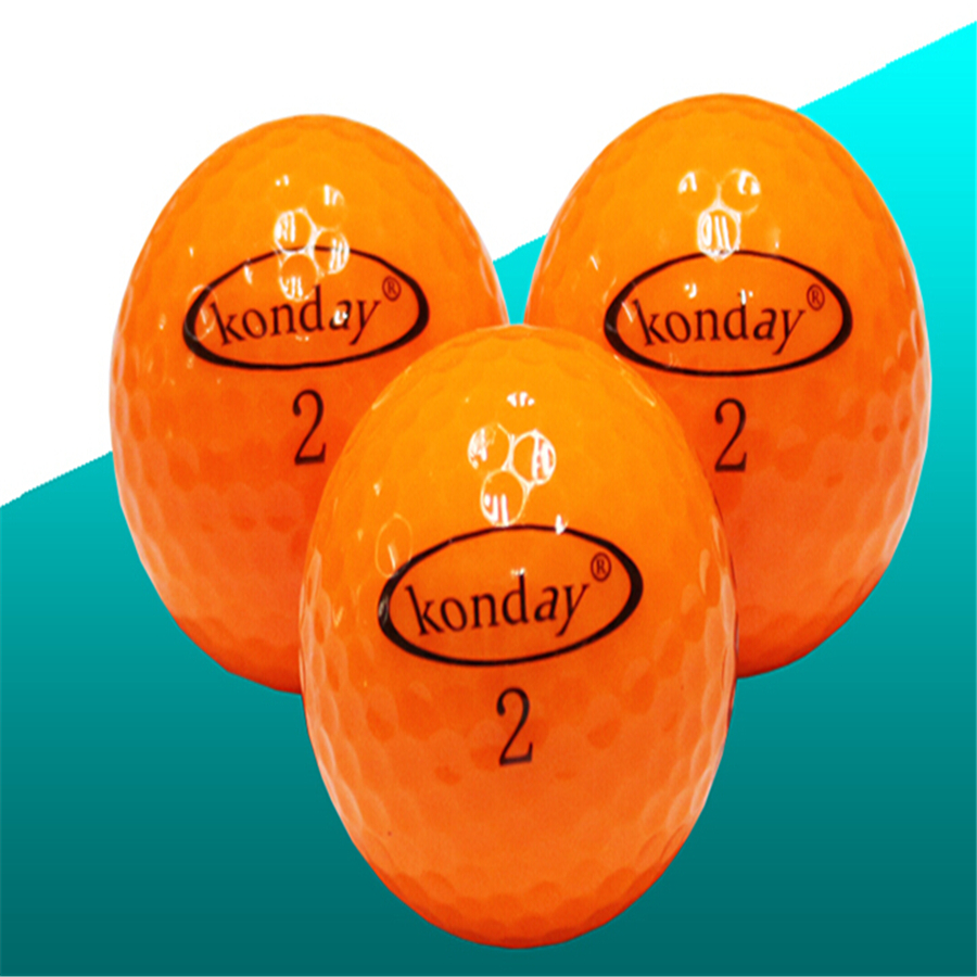 Retail Golfs ball Golf Game Sports Balls Golf Accessories Outdoor sports 2 Layer Golf game Practice ball Colorful game ball(China (Mainland))