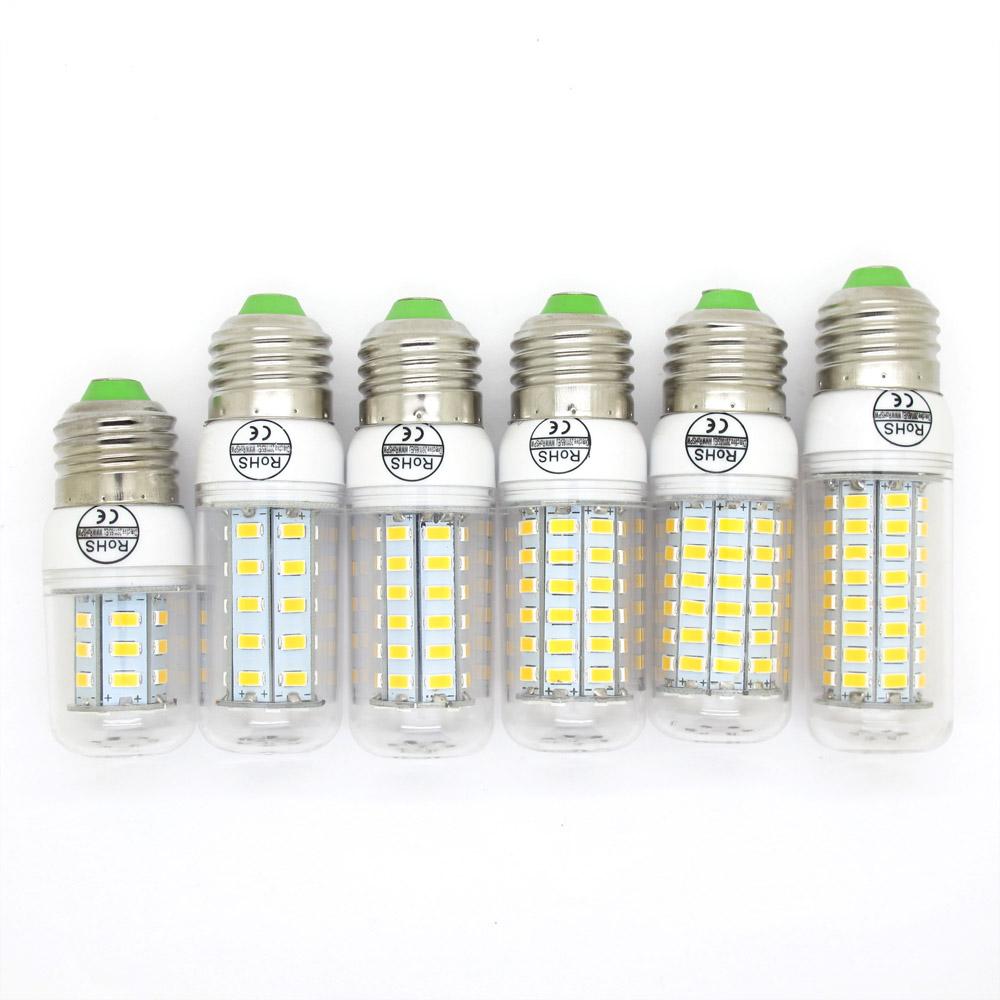 CE&RoHs LED E27 SMD5730 Lamp 9W 12W 15W 20W 25W 30W Light AC 220V 5730 Corn Bulb Christmas Chandelier Candle Lights Lighting(China (Mainland))