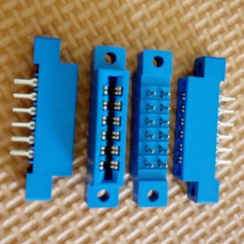 10pcs/Lot 805 Card Edge Connector 3.96mm Pitch 2x6 Row 12 Pin PCB Slot Solder Socket SP12 Dip Soldering-Block Type(China (Mainland))