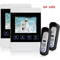 YSECU Villa Wired Night Visual Color Video Door phone Doorbell intercom System 4 Inch TFT LCD