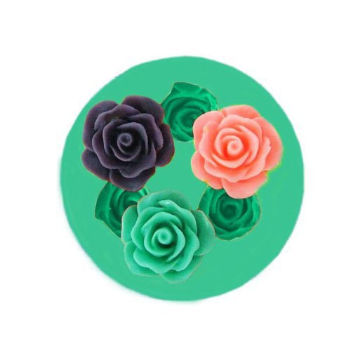 cooking tools three mini rose Silicone Fondant and Paste Mold DIY Cake Decorating Polymer Clay Resin Candy Fimo Super Sculpey(China (Mainland))