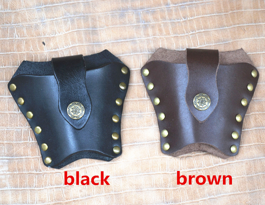 Wholesale 10PCS/lot slingshot genuine leather sheath outdoor Hunting Slingshot Catapult Bag Case Pouch Holster -BOW004(China (Mainland))
