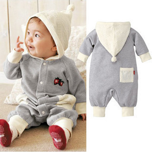 Best Selling!!autumn and winter baby romper infrant casual hoodies set children jumpsuit+ free shipping