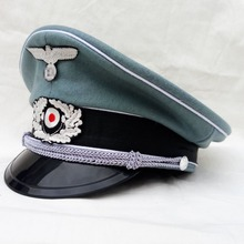 WWII WW2 German Army Hat Peaked Cap Large brimmed Caps Wholesale Size 57 58 59 60  440101(China (Mainland))