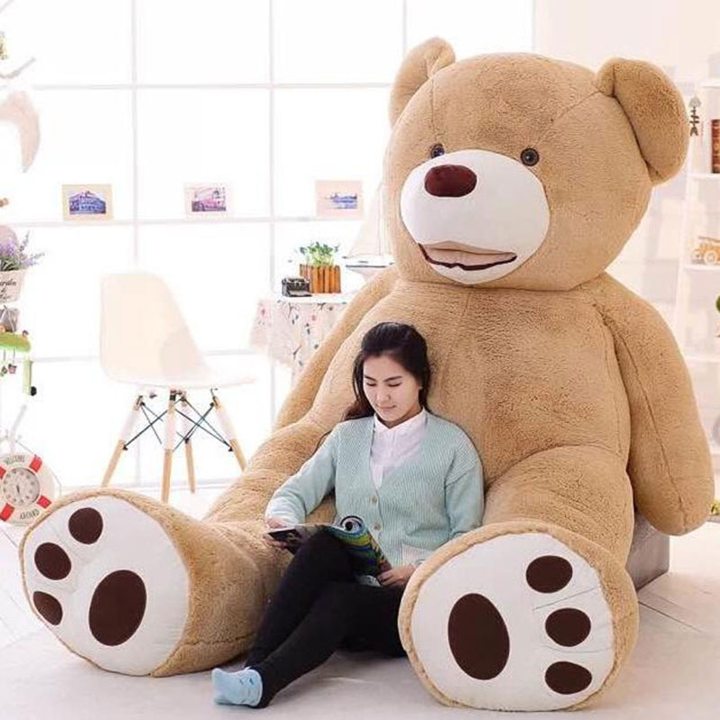 Huge 260cm Teddy Bear Skin Empty Soft Toys Comfortabling Plush Gifts Valentine Love Toys for Lovers HT3774(China (Mainland))