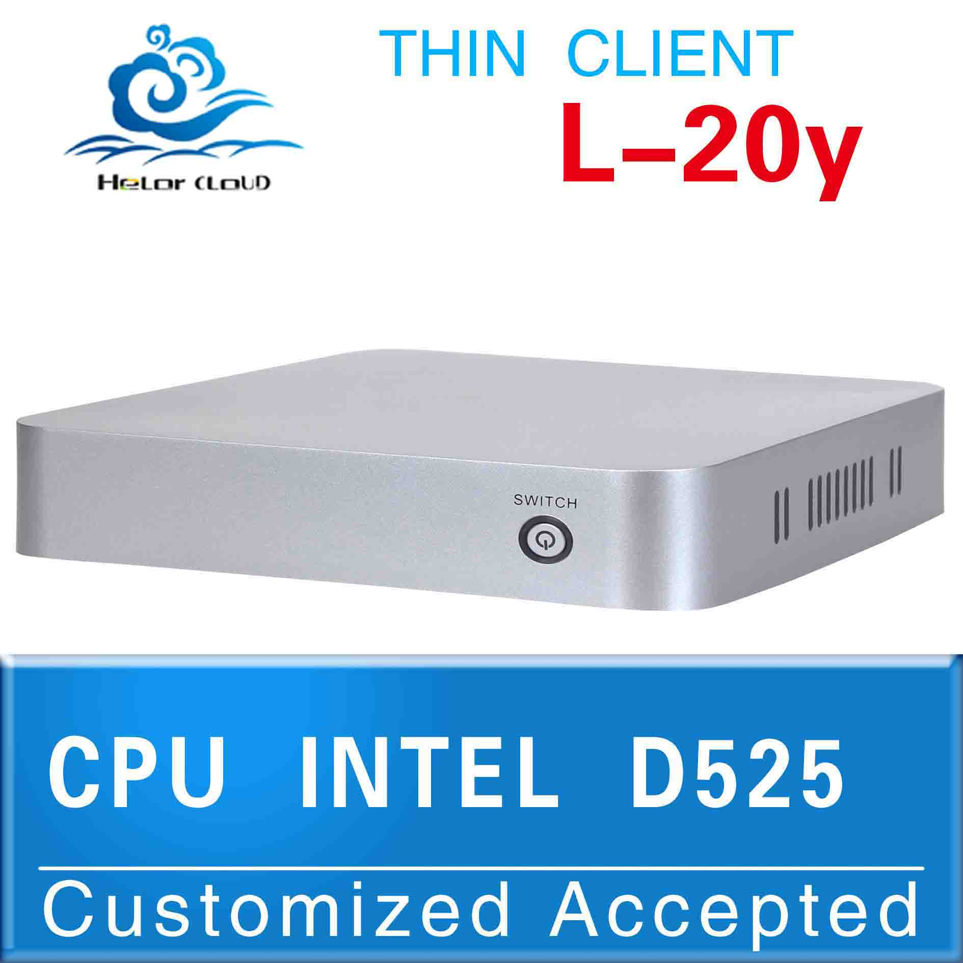 Hot!! htpc case mini itx case Intel Atom D525(1.8GHZ Frequency)used thin client support 3G and WiFi (LBOX-525)(China (Mainland))
