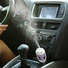 Car Steam Humidifier 12V Air Purifier Aroma Diffuser Essential oil diffuser Aromatherapy Auto Mist Maker Fogger YA405+(China (Mainland))