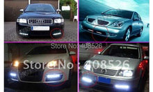 2pcs White 6 LED Universal Car Light Aux DRL Daytime Running External free shopping 31(China (Mainland))