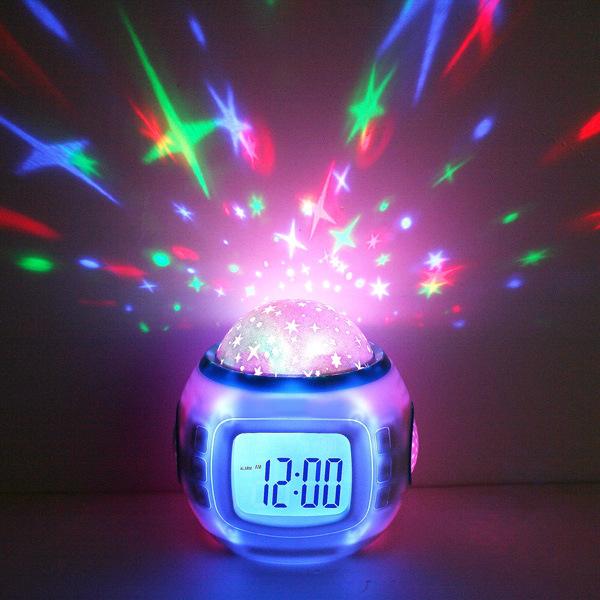 Sky Stars Projector Clock Sky Star Night Light Projector