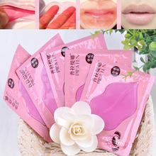 Lip Plumper Crystal Collagen Lip Mask Pads Moisture Essence Anti Ageing Wrinkle Patch Pad Gel Full Lips Lip Enhancer HB-0138