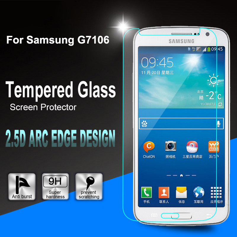 0.26mm Mobile Phone Premium Tempered Glass Screen Protector Film + Clean Tool For Samsung GALAXY Grand2 G7106 G7108 G7109(China (Mainland))