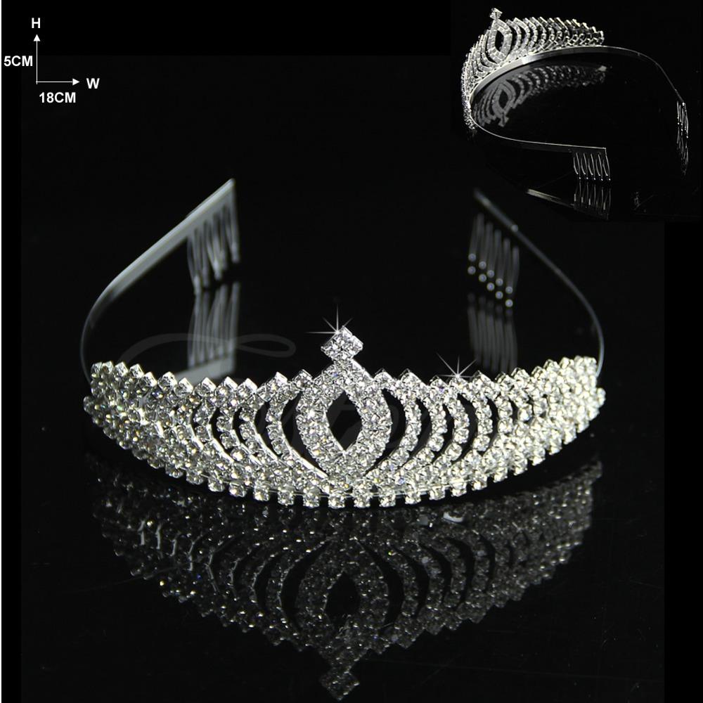 Y122 Wedding Bridal Comb Tiara Rhinestone Crystal Crown Pageant Prom Hair Headband(China (Mainland))