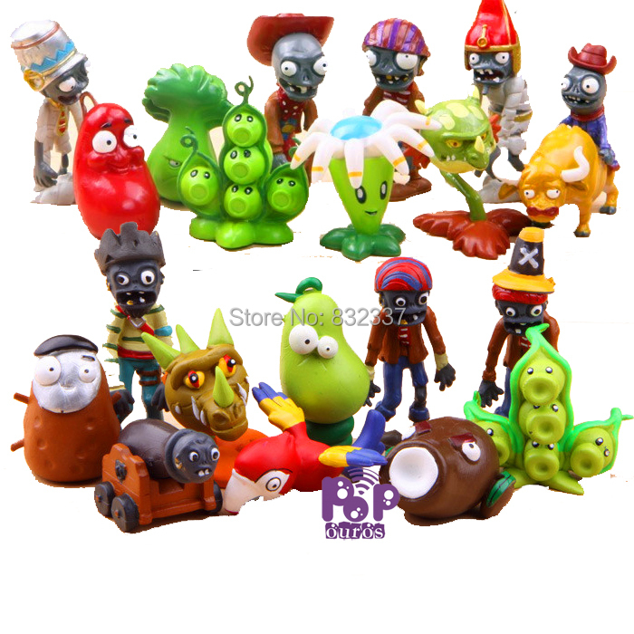 Hot Plants vs Zombies Figures Classic Plants and Zombies Party PVC Toys For Collection 20pcs /set<br><br>Aliexpress