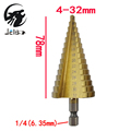 Jelbo Tools 4 32MM Drill Bit Step Drill Bit Power Tools Step Cone Drill Bit Taper