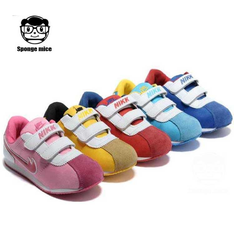 2015 Brand new spring children shoes sport girls and boys sneakers Comfortable running kids hook&loop shoes size 20-36(China (Mainland))