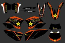 0279 NEW TEAM GRAPHICS WITH MATCHING BACKGROUNDS FIT FOR KTM SX XC XC-W EXC Series 2008 2009 2010 2011 - Cnc Motocross Graphics Parts store