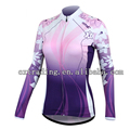 Fashion Women High Quality  Long Sleeve Cycling Jersey
