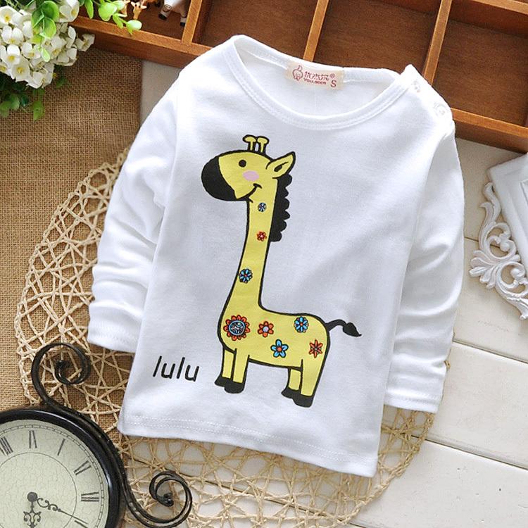 New design cute giraffe animal pattern baby boy girl t for T shirt printing for babies