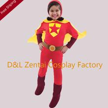 Free Shipping DHL Halloween Full Body Red Word Girl Superhero Costume Spandex Child Costume KC1717