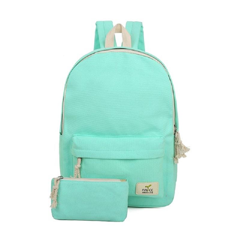 LEFTSIDE 2016 New Women Canvas Backpacks For High School Girls Women's travel bags rucksack Female School Bags For Teenagers(China (Mainland))