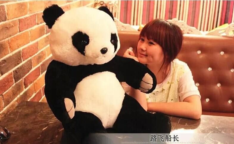 big lovely panda toys stuffed Kung fu panda sitting plush panda birthday gift about 110cm(China (Mainland))