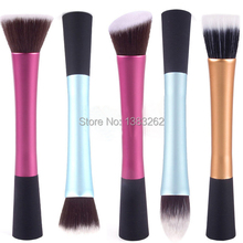 1Set/5PCS Stylish Makeup Cosmetic Tool Pro Power Blush Brush Stipple Foundation Set Soft y1