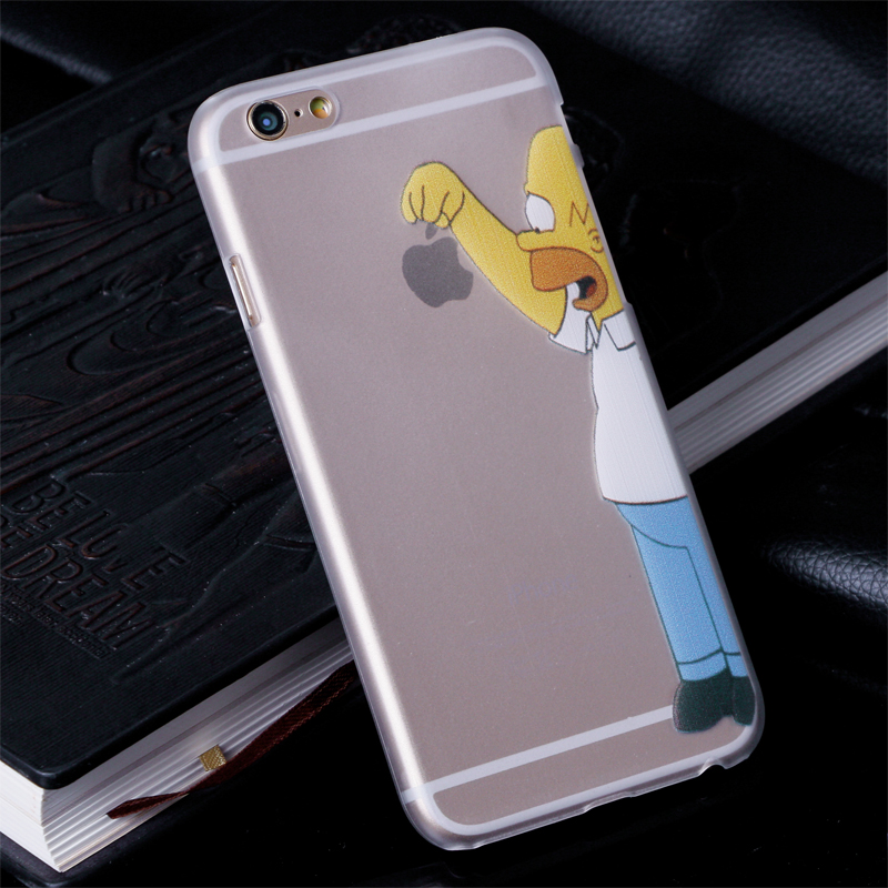 2016 New arrive 16 stylel iphone 6 4.7 inch case Transparent Snow White Hand grasp logo cell phone cases covers - Electronic-City store