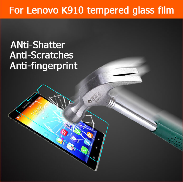 "0.33mm 2.5D Anti-shatter explosion proof protector film for lenovo K910 VIBE Z K6 5.5"" Tempered Glass Screen Protective LCD film(China (Mainland))"