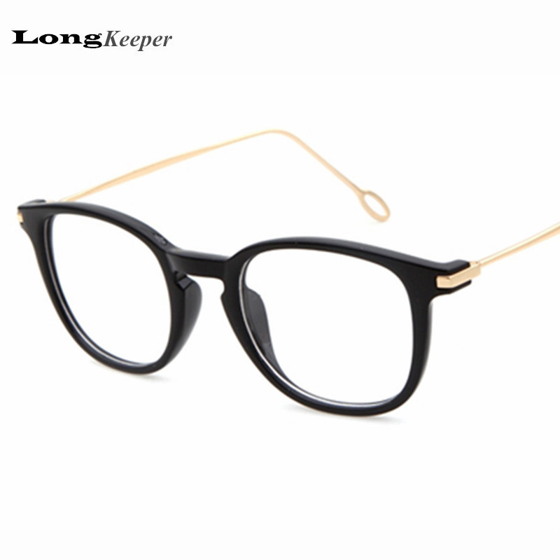 Glasses Frames With Plain Glass : Fashion eye glasses frames plain mirror eyeglasses for ...