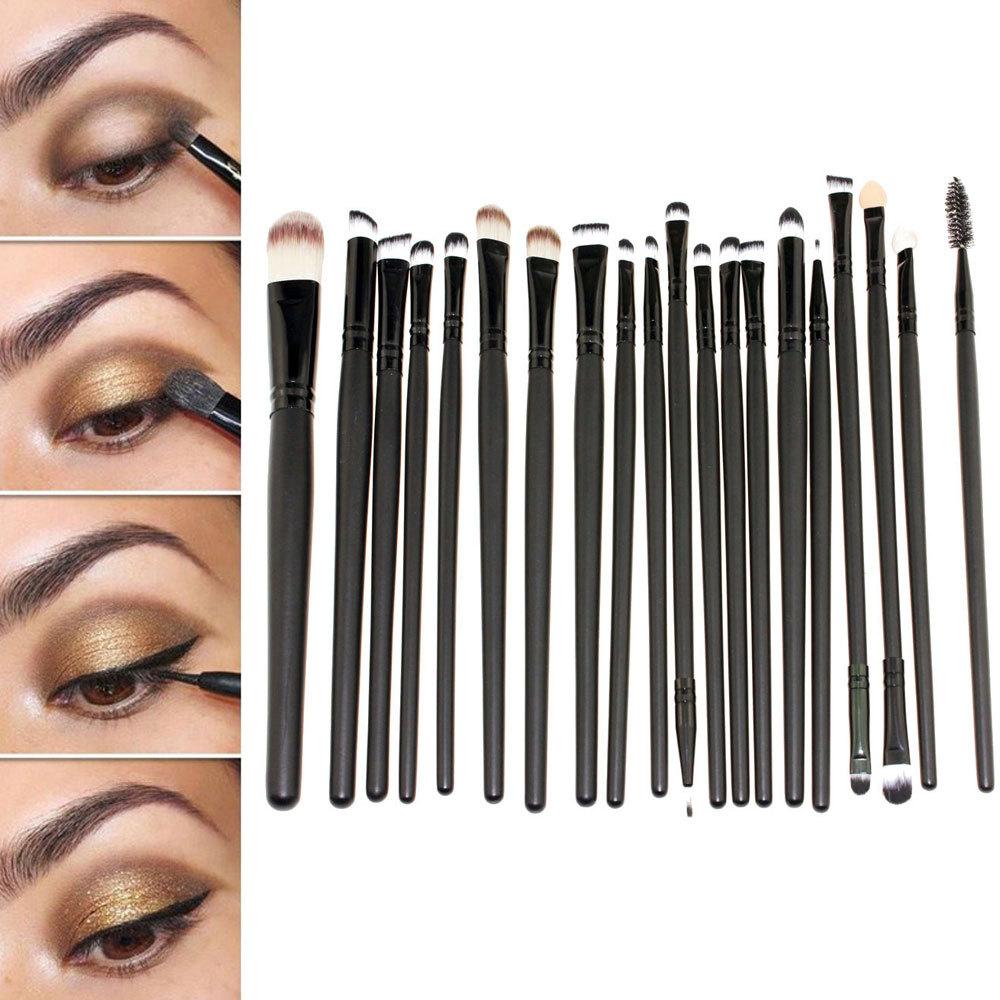 20PCS Eye Brush Set Make Up Cosmetic Brush Kit Powder Foundation Eyeshadow Eyeliner Lip Brushes Makeup Brush Tool For Eye Shadow(China (Mainland))