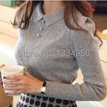 2014 New Fashion Casual Winter Autumn Women Lace Slim Knitted Sweater Femininos Pullover sweaters Blouse Top
