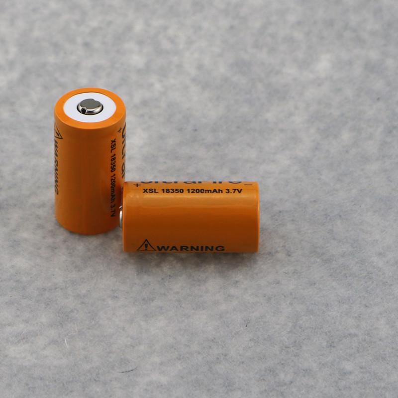 ถูก 4ชิ้นXSL 18350 1200มิลลิแอมป์ชั่วโมง3.7โวลต์แบตเตอรี่บุหรี่อิเล็กทรอนิกส์แบตเตอรี่+ 1ชิ้นแบบชาร์จ16340 18350ชาร์จแบตเตอรี่