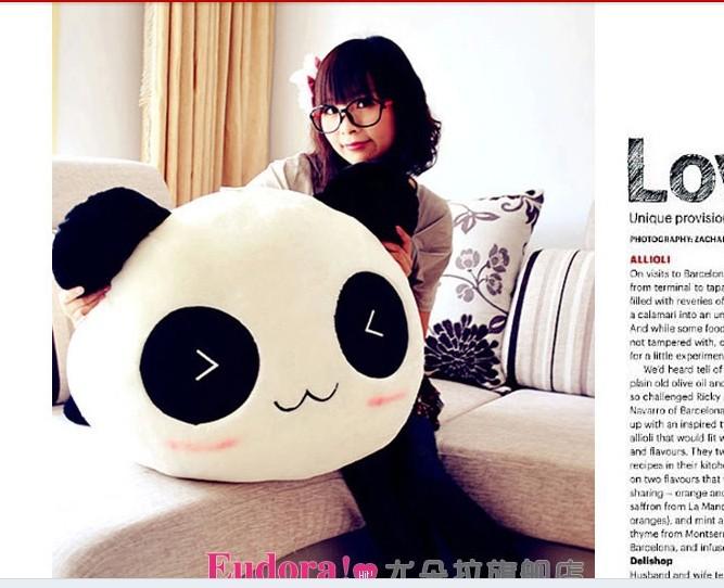 Stuffed animal smiley panda Laying Panda about plush toy 70cm doll GIFT wp146(China (Mainland))