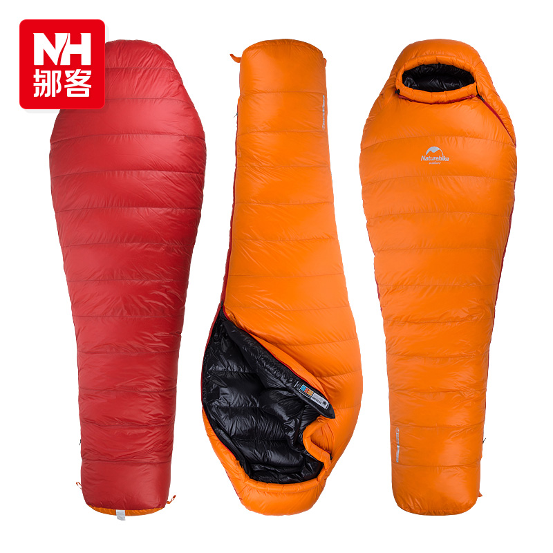 Naturehike Outdoor Camping Winter Sleeping Bag Down Sleeping Bag Mummy Single Sleeping Bag With Hooded Fr Cold Weather