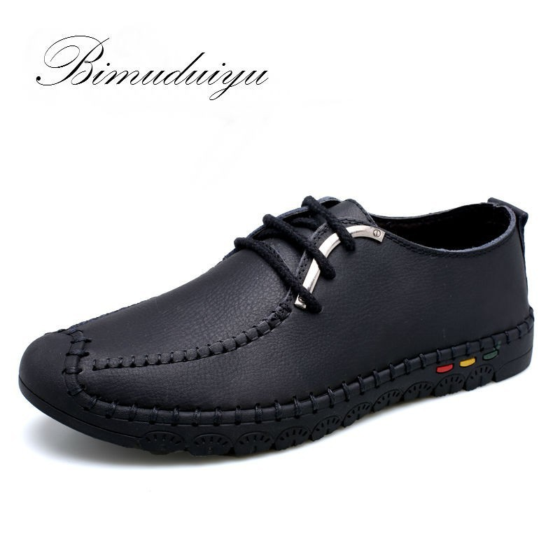 Daily Spring Summer Genuine Leather Men's Soft Flat Shoes Brand Casual Single Light Leisure Boots Daily Driving Walking Sale(China (Mainland))