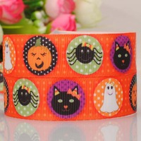 "20Y 7/8""22mm new  pattern lovely Halloween ribbon cartoon  printed grosgrain ribbon  DIY ployester ribbon"