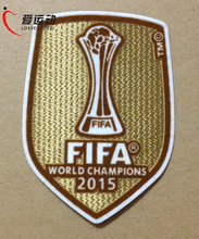 wholesale 2015 club world cup winner soccer patch Barcelona 2015 club world cup champion patch free shipping(China (Mainland))