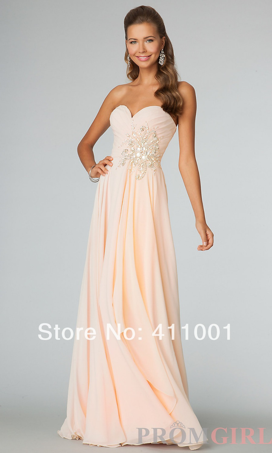 jcpenney wedding dresses Floor Length Prom Dress with Illusion Bodice