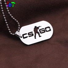 Buy Games CS GO Stainless Steel Round bead chain Pendant Necklace CSGO Male Collier Best Friends Statement men Jewelry fans gift for $1.19 in AliExpress store